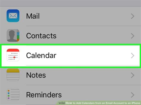 Adding Calendar To Iphone How To Add Calendars From An Email Account To An Iphone