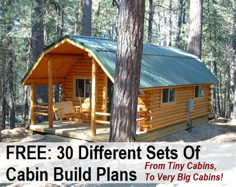 cabin building plans free free 30 different sets of cabin build plans