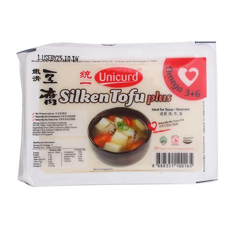 unicurd omega silken tofu plus box 300g from redmart