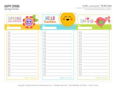 free pretty printable to do list 9 best images of spring cute printable to do list free