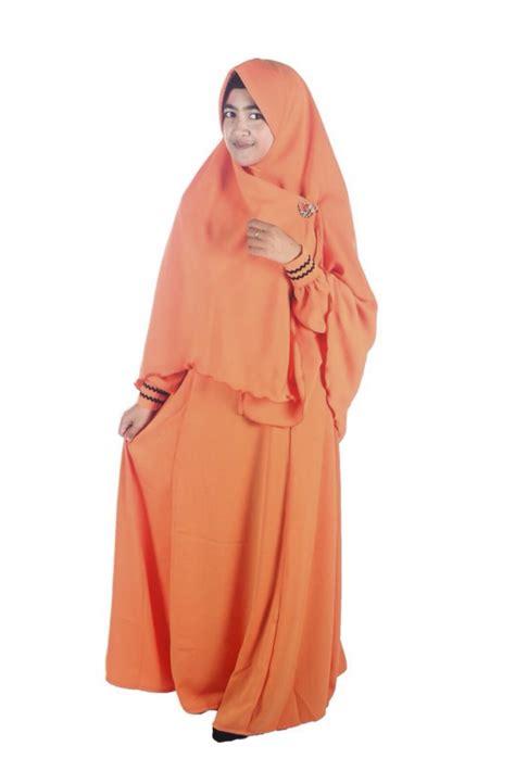 Set Orange Bata manisqu orange muda adzkia syar i gamis syar i fesya