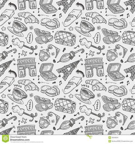 seamless european pattern seamless doodle paris pattern stock image image 33249241