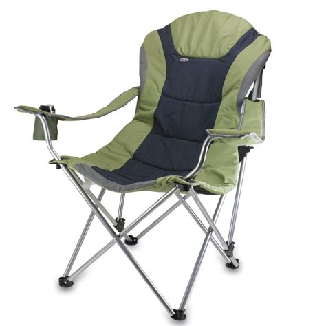 Reclining Folding Chair Reclining C Chair Green Picnic Time 803 00 130