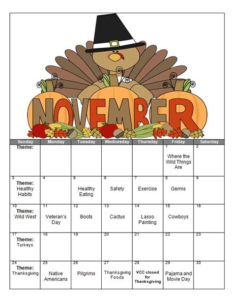 photo themes for november victor child care center the victorchildcare com blog