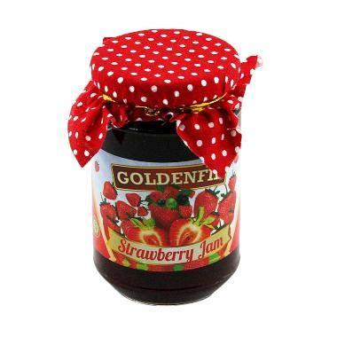 Goldenfil Strawberry jual goldenfil selai stoberi pr strawberry jam spread filling bpom mui merah 350 g