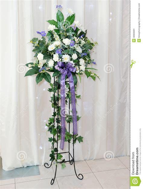 wedding reception flower arrangement stock image image