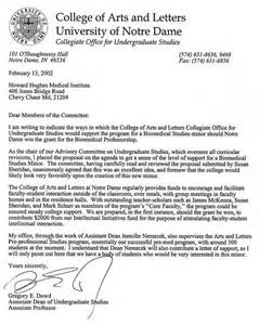 School letter of recommendation format sample college recommendation