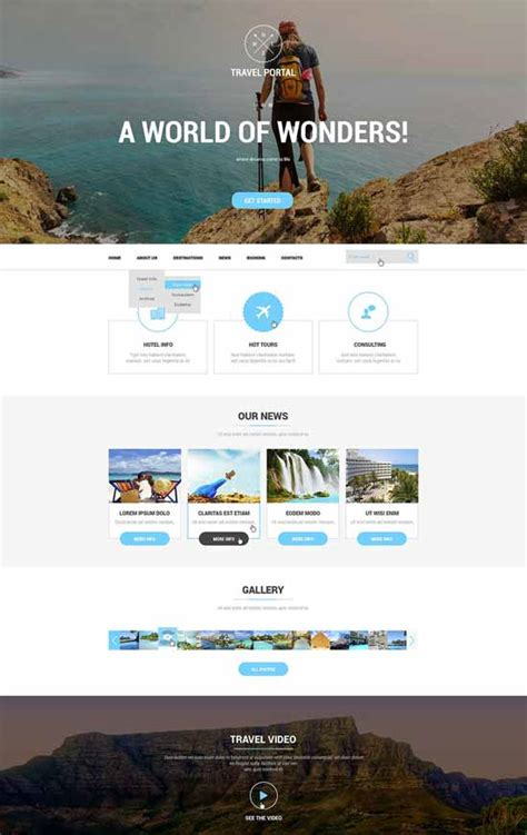 travel portal templates 60 excellent travel website templates free premium