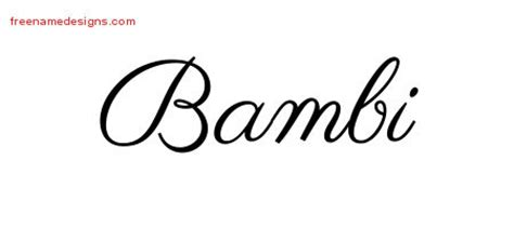 bambi archives free name designs