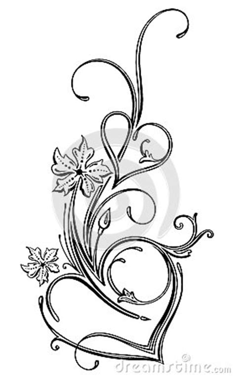 filigree heart tattoo designs hearts filigree royalty free stock photography image