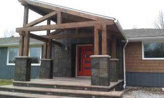 Pergola End Caps by Rustic Modern Porch Addition And Exterior Remodel