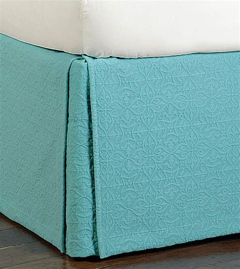 luxury bedding by eastern accents mea aqua bed skirt