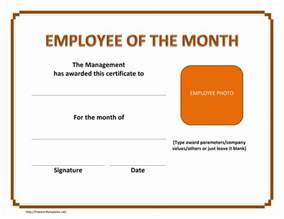 Certification Letter Template Employment Employee Of The Month Certificate Freewordtemplates Net