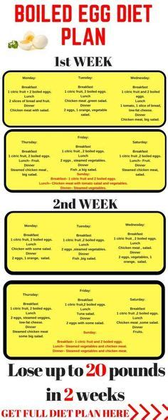 Egg Detox Week by The Boiled Egg Diet 2 Week Plan Infographic