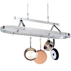 Hanging Cookware Holder 5 Foot Oval Hanging Pot Rack In Hanging Pot Racks