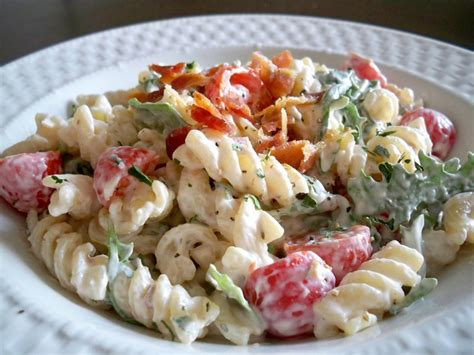 pasta salad with mayo blt pasta salad cupcake diaries