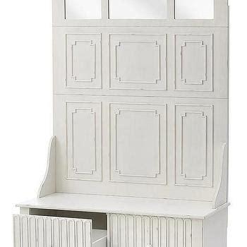 white hall tree bench white mudroom storage