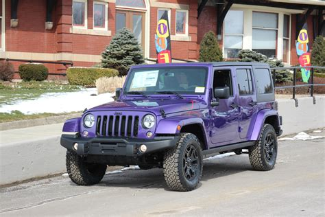 purple jeep no doors see the 2016 jeep wrangler for sale in springville ny
