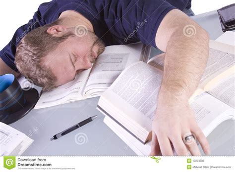Student Sleeping On Desk by College Student Sleeping On His Desk Royalty Free Stock