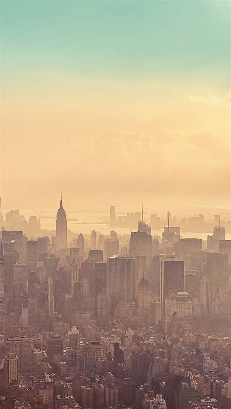 paris new york places wallpapers new york city sunrise haze iphone 5 wallpaper hd free