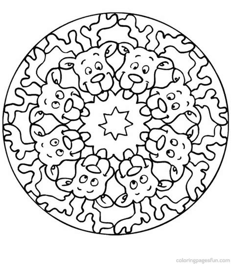 christmas mandala coloring pages az coloring pages
