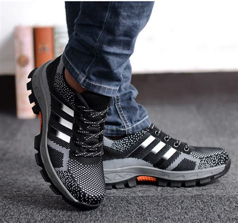 hiking climbing shoes fashion mens safety shoes steel toe breathable work boots