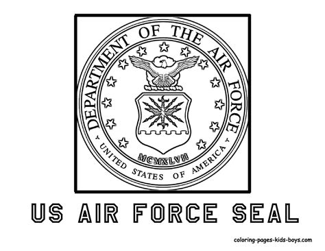us air force seal coloring pages for kids pinterest