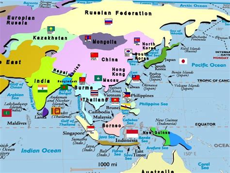 asia pacific map with country names manash subhaditya edusoft world atlas and geography