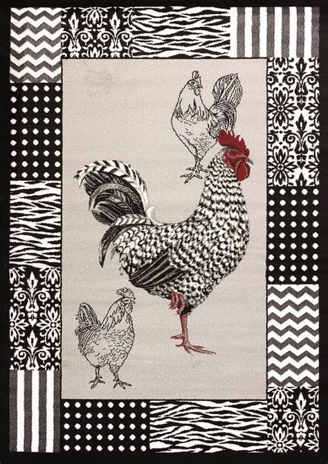 rooster area rugs rooster grey area rug cristall collection the log