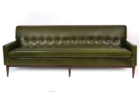 Directional Furniture by Paul Mccobb Leather Walnut Directional Sofa Modern Furniture