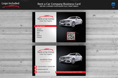 rent a car business card template free rent a car business card business card templates on