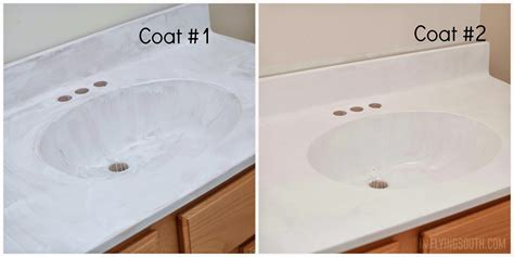 painting bathroom sink remodelaholic painted bathroom sink and countertop makeover