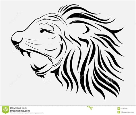 lion tatto stock vector image 42382294