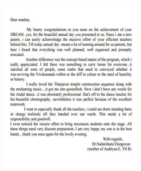 appreciation letter to a from parent 41 appreciation letters in pdf