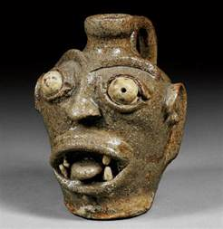 Glass Vase Online American Pottery Stoneware Grotesque Face Jug Skinner Inc