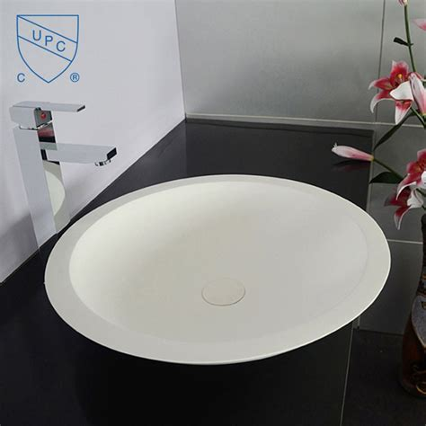 above counter bathroom sinks canada white round artificial stone above counter bathroom vessel sink dk hb9004