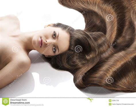 a lot of hair on woman beauty young girl hairstyle and a lot of hair royalty free