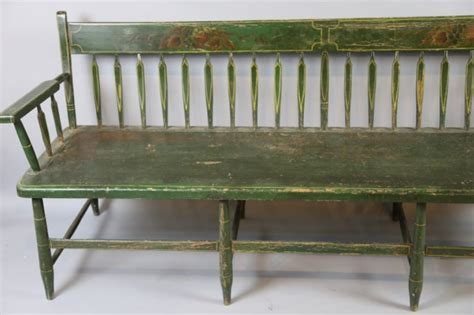 parsons bench with back american southern fine antique parsons long bench