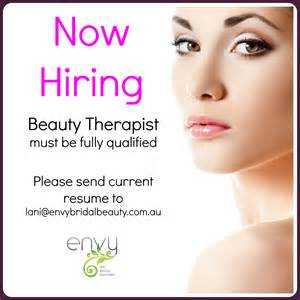 positions available envy the beauty specialists