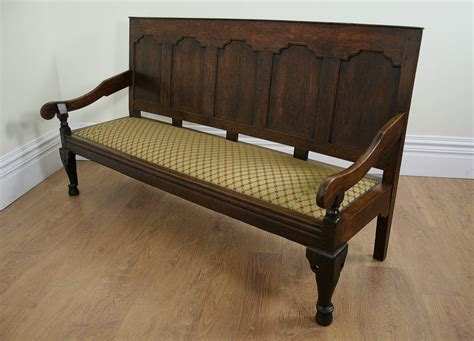 settle bench welsh oak george iii settle bench circa 1760 antiques atlas