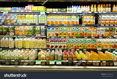 Shelf Of Orange Juice by Toronto September 14 Fruit Juices Shelf Stock Photo