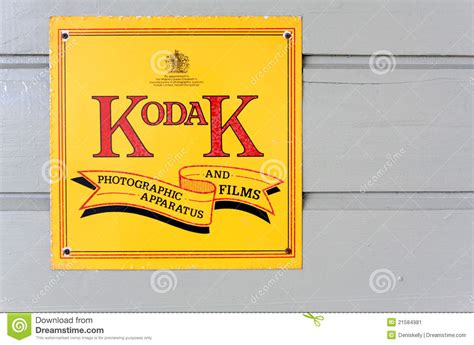 Vintage Kodak Logo vintage kodak company advertising sign editorial