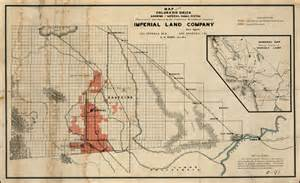 arizona canal map map of the colorado delta showing the imperial canal