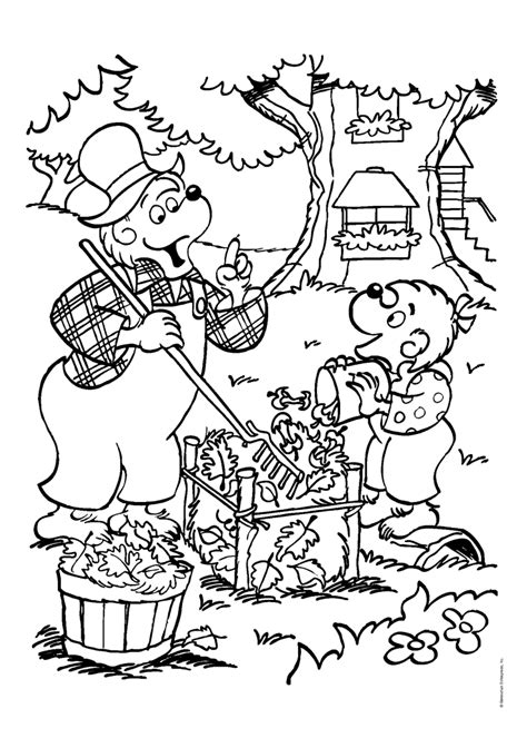 berenstain bear coloring page berenstain bears coloring pages coloring home