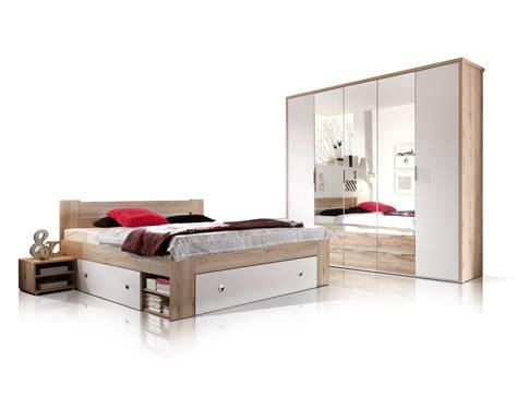 komplett schlafzimmer 140x200 conny komplett schlafzimmer eiche san remo weiss 140 x 200 cm