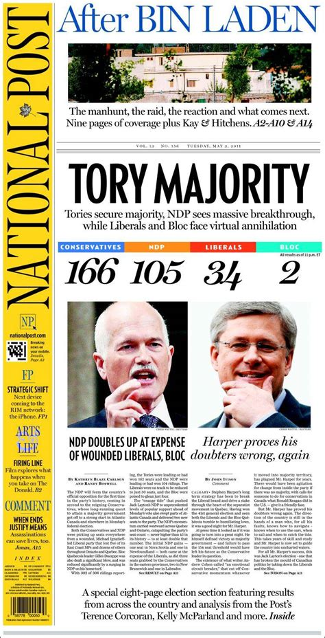 Canadas National Newspaper by Newspaper The National Post Canada Newspapers In Canada
