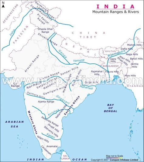 Rivers Of India Map Outline by The Map Showing And Rivers India Maps Indian Rivers And Maps