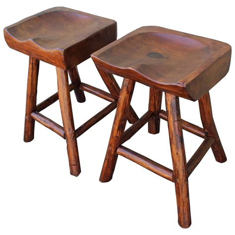 rustic hickory bar stools rustic hickory by rittenhouse plank seat bar stools for
