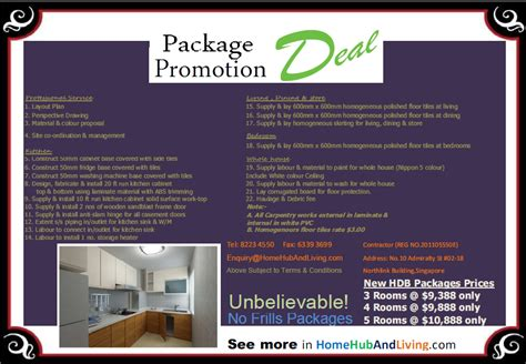 new condo and hdb apartment reno promotion home hub and