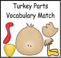 printable turkey parts just file folder games file folder games at file folder
